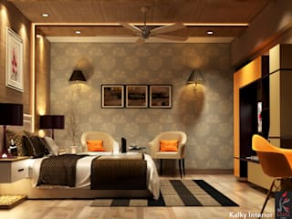 Master bedroom:  Bedroom by kalky interior