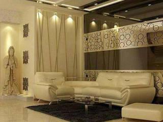 Living room by Archint Designs Pvt. Ltd., Minimalist