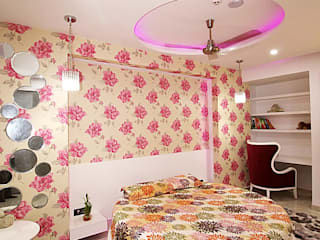 Residence in Indirapuram:  Bedroom by Archint Designs Pvt. Ltd.