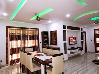 Residence in Indirapuram:  Dining room by Archint Designs Pvt. Ltd.