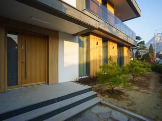 경함재 (景椷齋) : 풍경을 담은 집 모던스타일 주택 by 위즈스케일디자인 모던