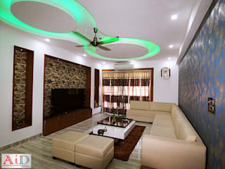 Residence in Indirapuram:  Living room by Archint Designs Pvt. Ltd.