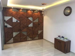 Utility storage unit :  Living room by Vinayak Interior | Interior Designing and Decorator Companies