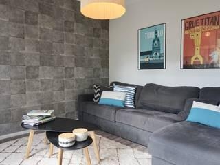 décoration & aménagement d'une maison en construction Salon moderne par Backhome Moderne
