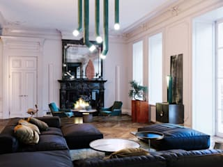 Eclectic style living room by Мастерская Grynevich Dmitriy Eclectic