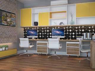 Projeto 3D Gráfica Claudia Fonseca Designer de Interiores Espaços comerciais modernos