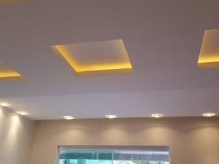 Gesso e iluminação residencial Claudia Fonseca Designer de Interiores QuartoIluminação