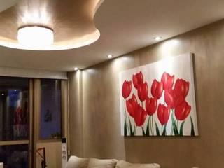 Trabalhos de gesso e iluminação Claudia Fonseca Designer de Interiores Sala de estarIluminação