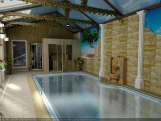 Дизайн частного бассейна Бассейны в эклектичном стиле от Цунёв_Дизайн. Студия интерьерных решений. Эклектичный