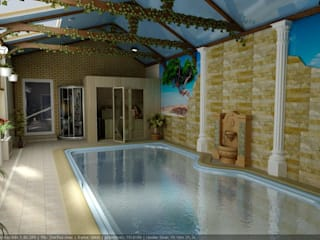 Eclectic style pool by Цунёв_Дизайн. Студия интерьерных решений. Eclectic