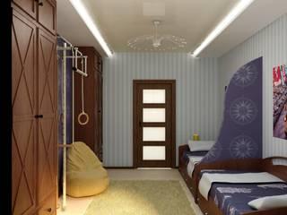 Детская Тачки: Детские комнаты в . Автор – Цунёв_Дизайн. Студия интерьерных решений.