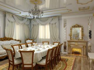 Классический дизайн Гостиной: Гостиная в . Автор – Цунёв_Дизайн. Студия интерьерных решений.