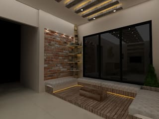 Rustic Living Room:  Living room by Creative Focus