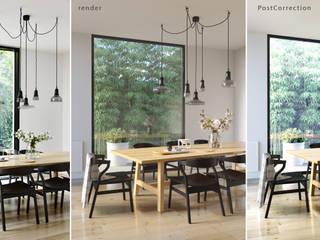 Minimalist dining room by Alyona Musina Minimalist