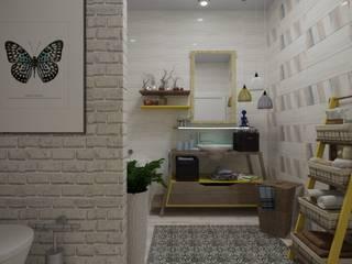 Зимние фантазии от студии ХАТА: Ванные комнаты в . Автор – ХаТа - design