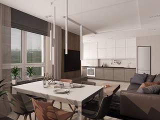 Salle à manger minimaliste par EEDS дизайн студия Евгении Ермолаевой Minimaliste