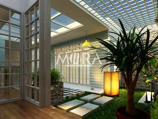 Renovasi Rumah Pribadi Surabaya: Pondok taman oleh Maxima Studio Medan Interior Design & Arsitek, Tropis