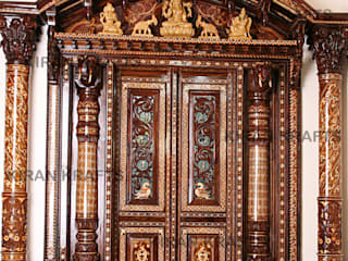 Pooja Room Door:  Wooden doors by Kiran Enterprises
