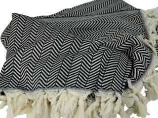Plaid ethnique noir KaravaneSerail SalonAccessoires & décorations Coton Noir