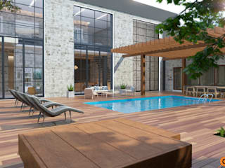 Artichok Design Terrace house Wood Brown