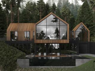 Casas de estilo minimalista de YOUSUPOVA Minimalista