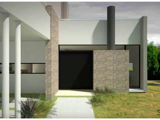 CASA AsriO: Casas de estilo  por SINERGIA ARQUITECTURA