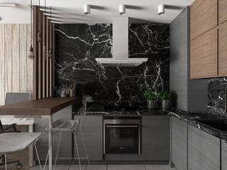 Cucina minimalista di EEDS дизайн студия Евгении Ермолаевой Minimalista