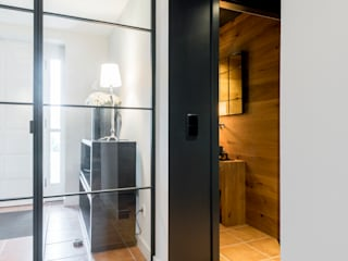 Ohlde Interior Design Couloir, entrée, escaliers industriels Beige
