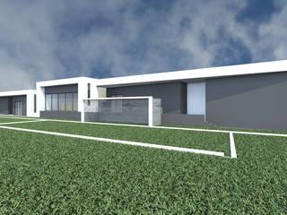 Edificio de Apoio à prática desportiva:   por 2FCS - Arquitectura e Decoração