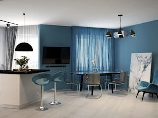 ДизайнМастер Eclectic style kitchen Blue