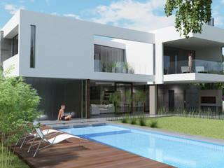Casa R-R: Casas unifamiliares de estilo  por Estudio D3B Arquitectos
