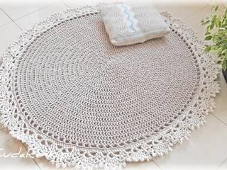 Dywan z koronką, kolor cappucino: styl , w kategorii  zaprojektowany przez CudaRenki.pl