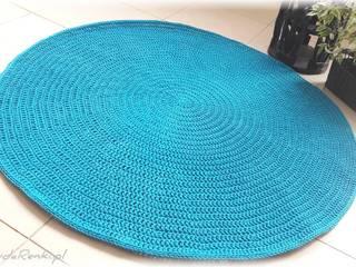 Lazurowy dywan - szydełkowy: styl , w kategorii  zaprojektowany przez CudaRenki.pl