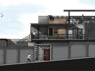 Fachada de departamentos: Condominios de estilo  por Aformal