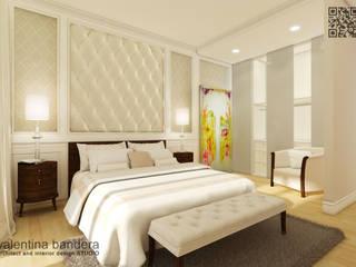 Zona notte - appartamento privato: Camera da letto in stile in stile Moderno di valentina bandera STUDIO