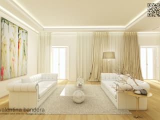 Zona giorno - appartamento privato: Soggiorno in stile  di valentina bandera STUDIO