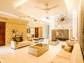 Luxury living area:  Living room by NVT Quality Build solution