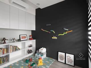Kamar Bayi/Anak Gaya Skandinavia Oleh 極簡室內設計 Simple Design Studio Skandinavia