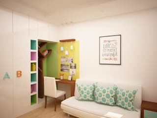 Kids study area Asian style study/office by homify Asian