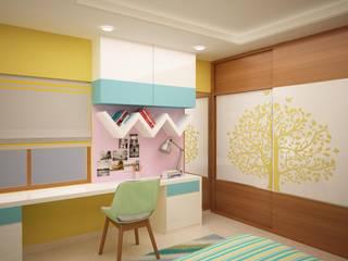 Kids room study table homify Asian style nursery/kids room