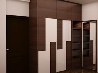 Full height wardrobe :  Dressing room by NVT Quality Build solution