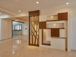 Hall area partition Modern corridor, hallway & stairs by homify Modern