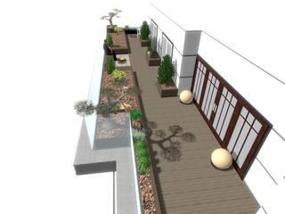 PRUVA34 TERAS BAHÇESİ PEYZAJ PROJESİ // PRUVA34 TERRACE GARDEN LANDSCAPE PROJECT Modern Bahçe AYTÜL TEMİZ LANDSCAPE DESIGN Modern