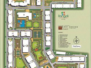 Ashiana Rangoli Gardens Modern houses by NMP Design Modern