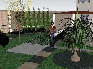 Paisagismo Residencial: Jardins de fachadas de casas  por Regina Célia -  Arquitetura & Design,Moderno