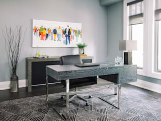 Modern Home Office:  Study/office by Frahm Interiors