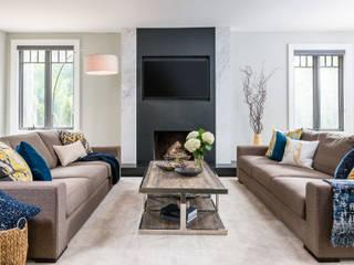 غرفة المعيشة تنفيذ Frahm Interiors