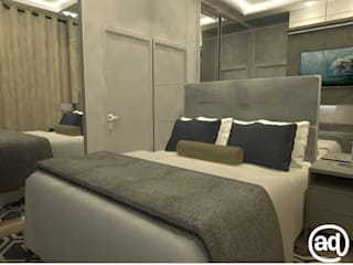 Attitude Minimalist bedroom Grey