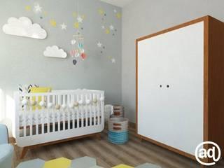 Quarto bebê Daniel - Franca - SP: Quartos de bebê  por Attitude,Moderno