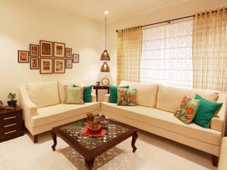 Saloni Narayankar Interiors 现代客厅設計點子、靈感 & 圖片